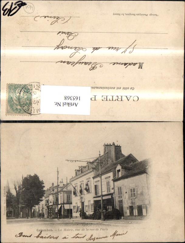 Colombes La Mairie vue de la rue de Paris Strassenansicht 1903