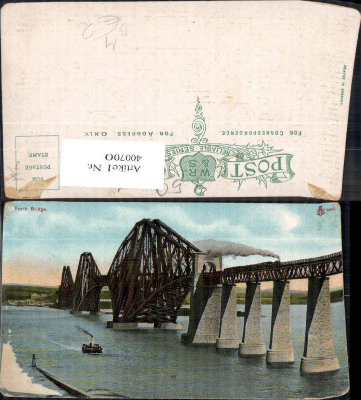 Brücke Edinburgh Forth Bridge Schiff Dampfer Eisenbahn