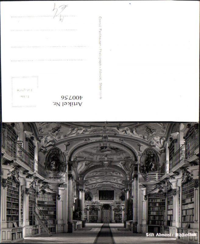 Foto Ak Bibliothek Stift Admont Stiftsbibliothek