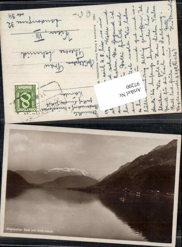 97200;Ossiachersee Ossiach Bodensdorf 1926