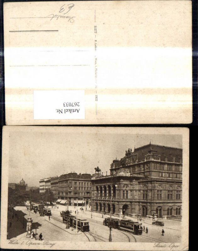 Strassenbahn Wien Opernring Oper Staatsoper Ringlinie