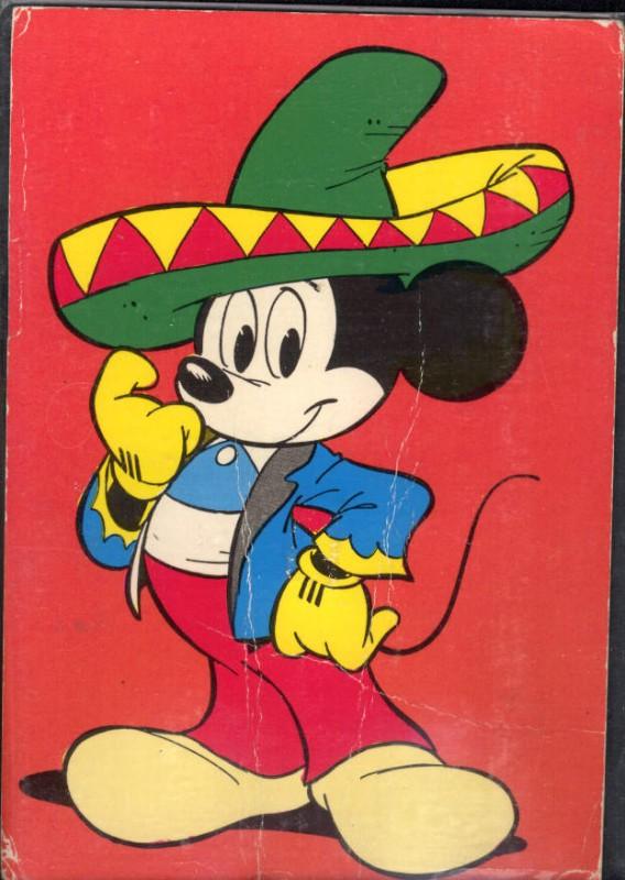 Comic Mickey Maus m. Mexikaner Hut Sombrero