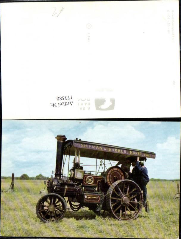 Burrell Compound Three Speed Steam Tractor 3458 Traktor Landwirtschaftlic