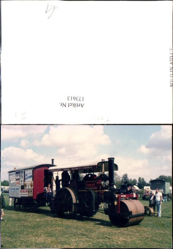 Landwirtschaftliche Maschine Dampfwalze m. Anhänger