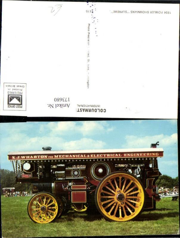 Fowler Showmans Supreme Landwirtschaftliche Maschine