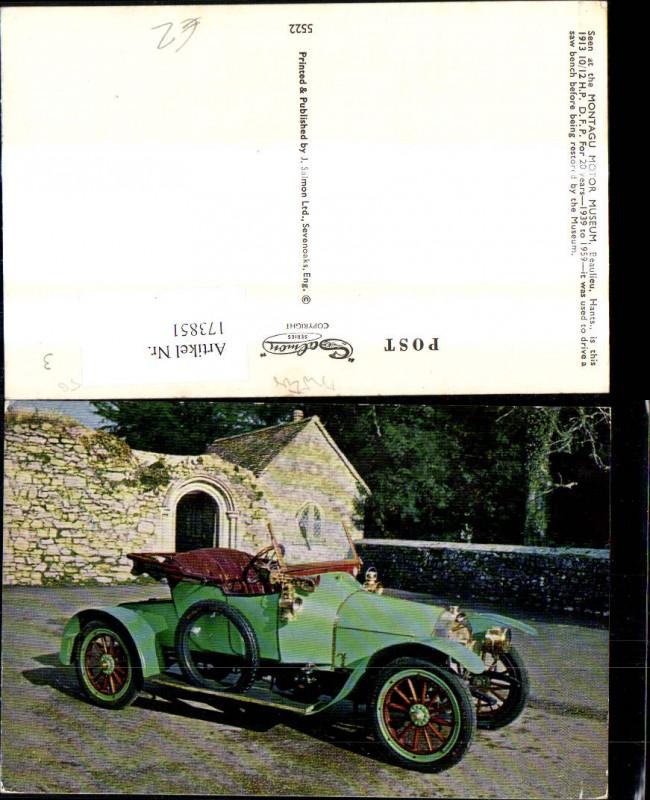Automobil Oldtimer Beaulieu Hants 1913 H. P. D.F.P.
