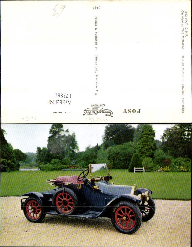 Automobil Oldtimer 1913 Fiat 12 H.P.