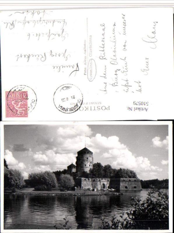 Finland Savonlinna Olavinlinna Burg Turm