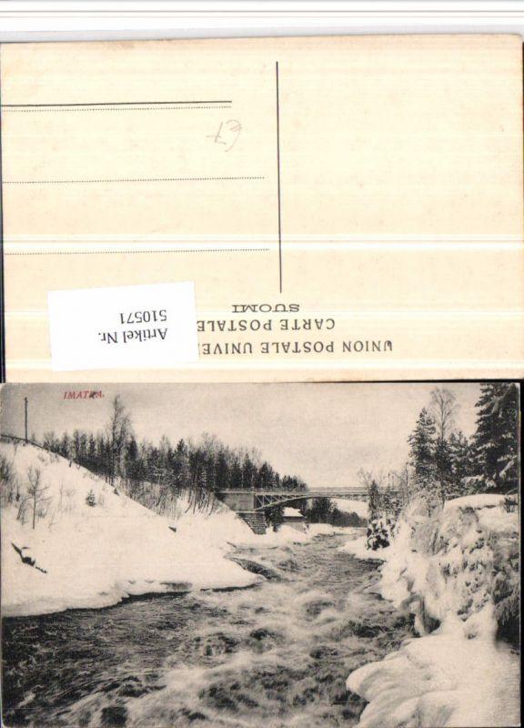 Finland Imatra Fluss Brücke Winterbild