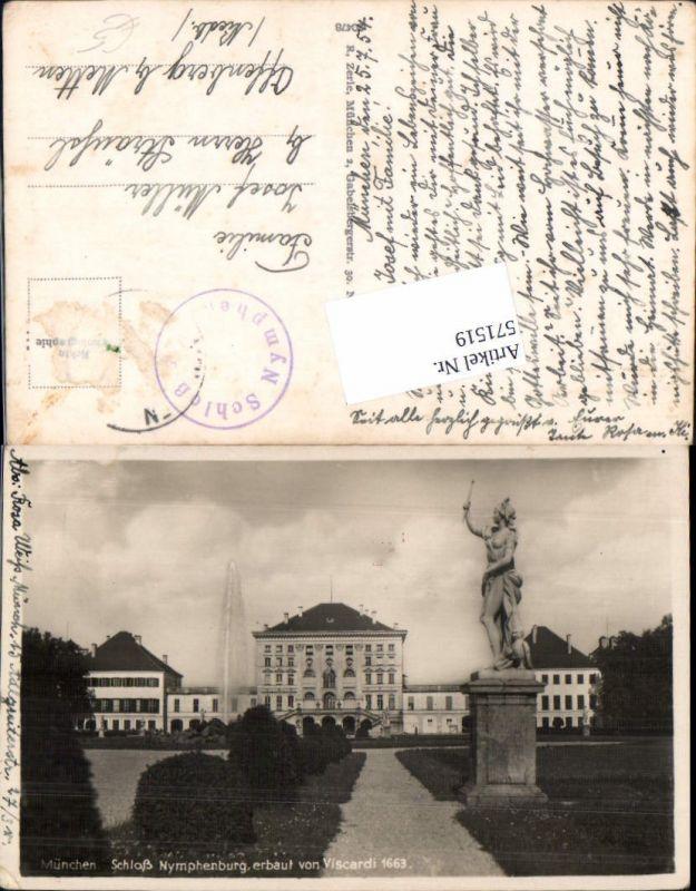 München Schloß Nymphenburg Springbrunnen Brunnen Statue
