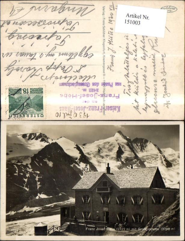 Franz Josef Haus Großglockner Heiligenblut Kals Ansicht Winter 1910