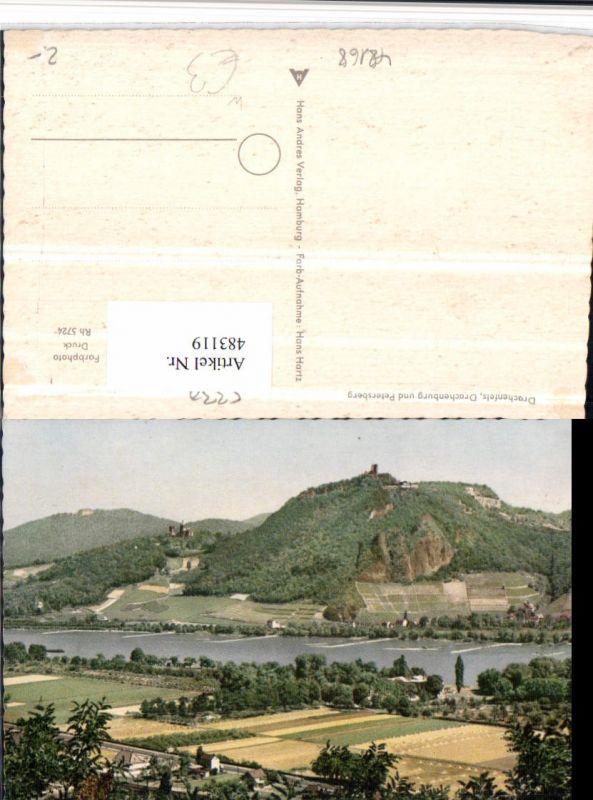 Drachenfels Drachenburg u. Petersberg b. Königswinter am Rhein