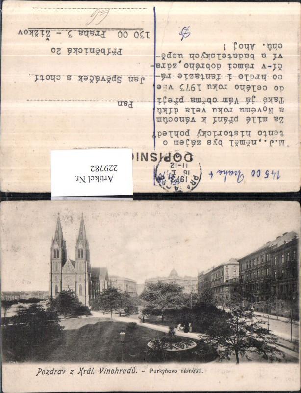 Prag Praha Kral Vinohradu Purkynovo namesti Kirche