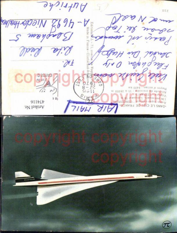 Flugzeug zivil Concorde Dans Le Ciel de France