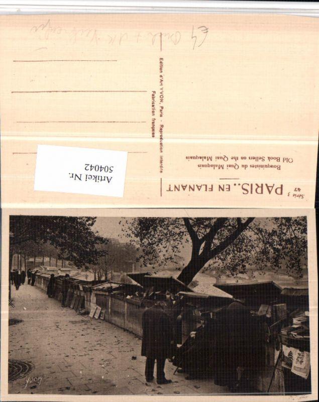 Paris Bouquinistes du Quai Malaquais Beruf Verkäufer Bücher Ansichtskarte