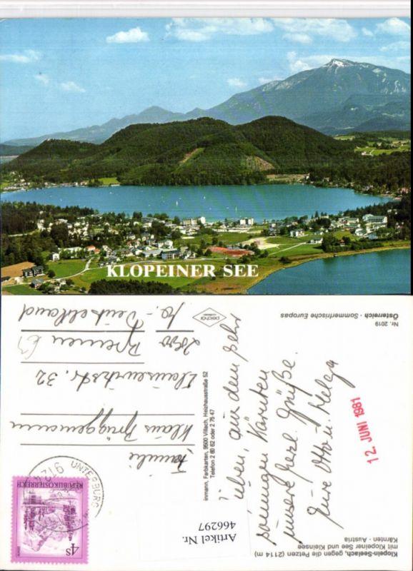 Klopein-Seelach Totale See geg. Petzen Bergkulisse