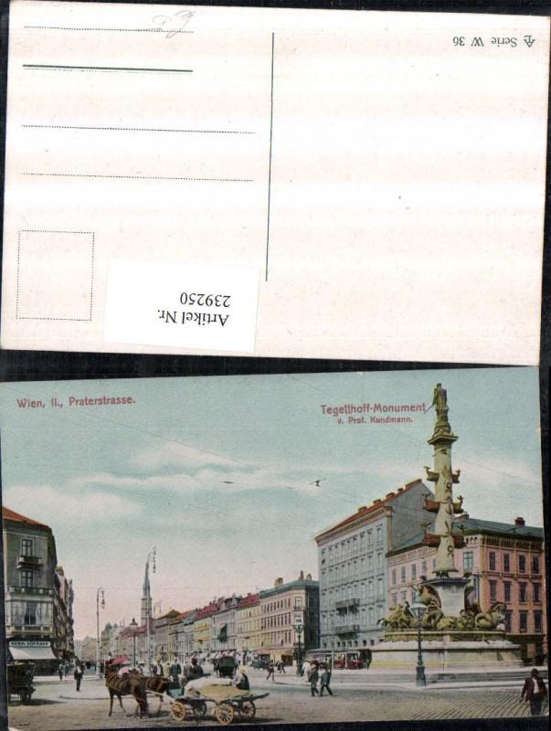 Wien Leopoldstadt Praterstraße Tegetthoff-Monument Straßenansicht