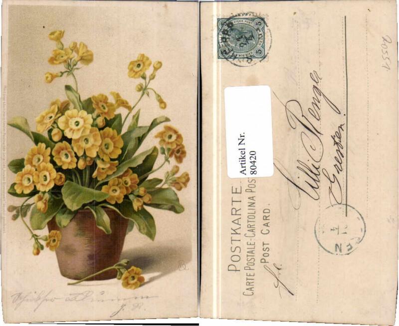 80420;Meissner & Buch 1240 Blumen sign MB