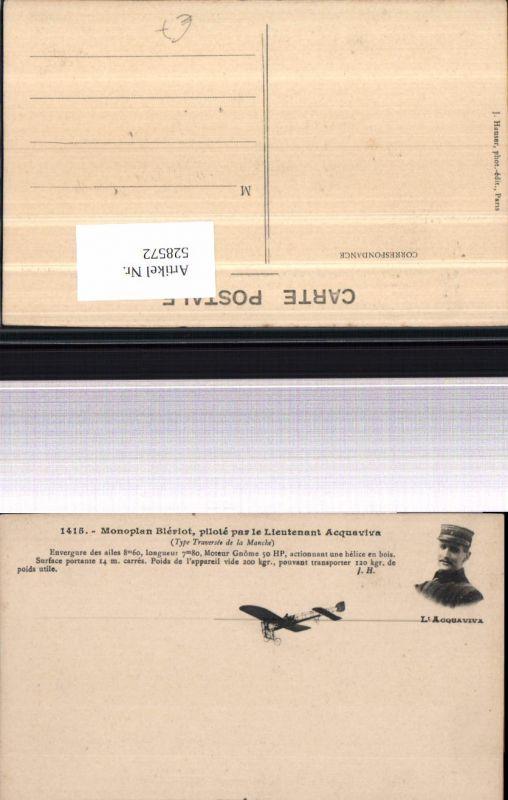Aviatk Lt. Acquaviva Monoplan Bleriot Flugzeug Flieger