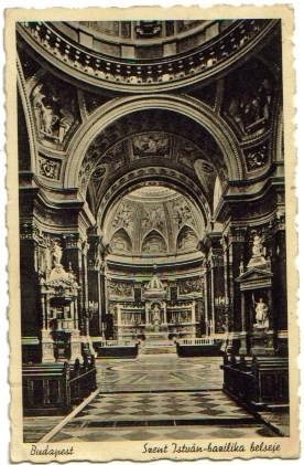 2394;Budapest - Szent justuan bazilika belseje 1930