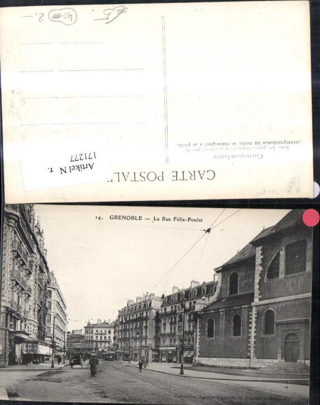 Grenoble La Rue Felix Poulat Strassenansicht m. Personen