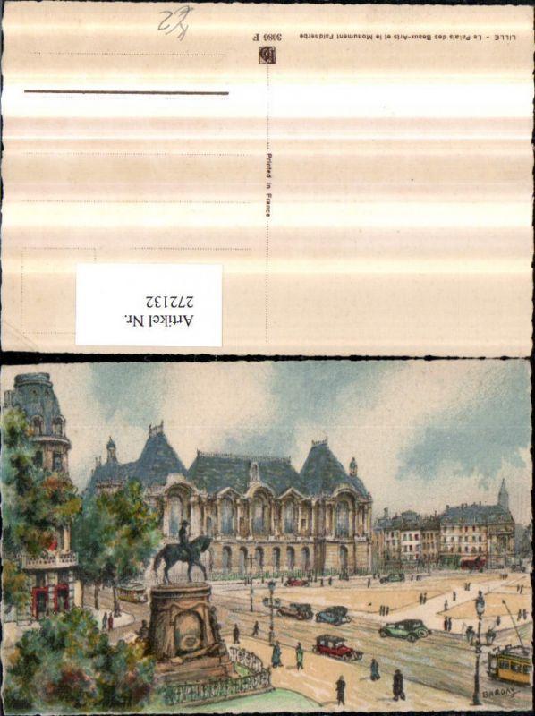 Künstler AK Barday Frankreich Lille Le Palais des Beaux-Arts et le Monume