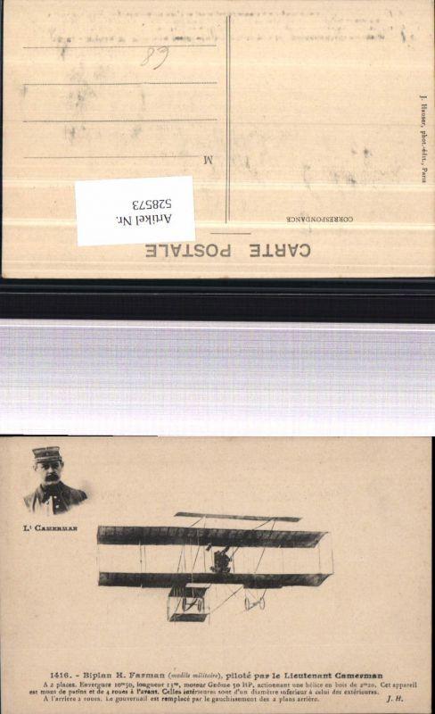 Aviatik Lt. Camerman Biplan H. Farman Flugzeug Flieger