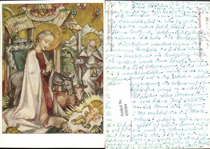 Künstler AK Berta Hummel Christ ist geboren Maria Josef Tiere