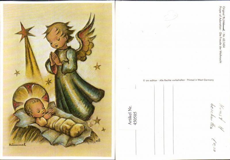 Künstler AK Berta Hummel Die Freude der Weihnacht Jesuskind Engel Stern