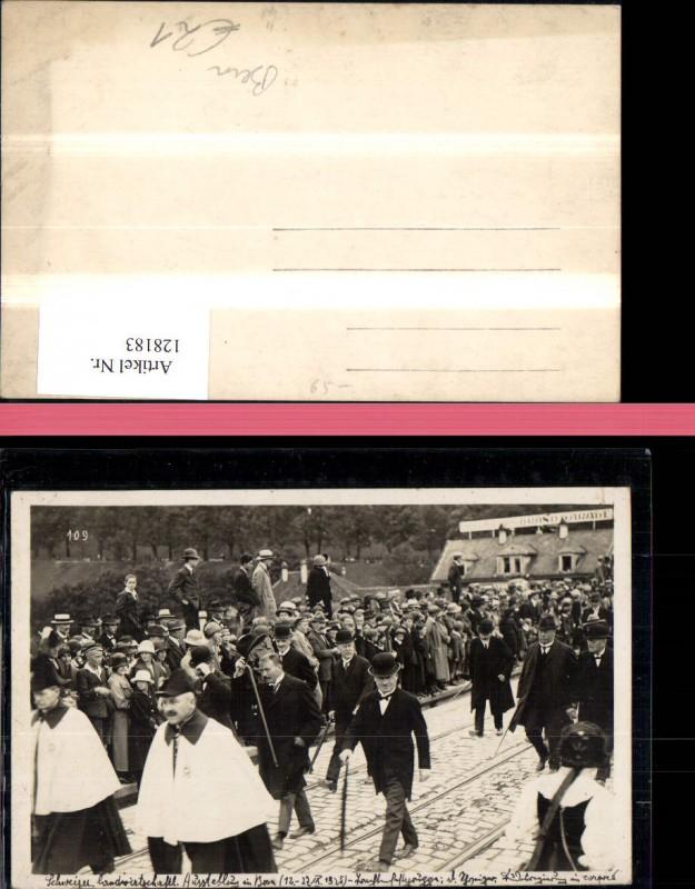 Bern FotoAk Landwirtschaftl. Ausstellung 1925 Fahnenträger Kt. Bern