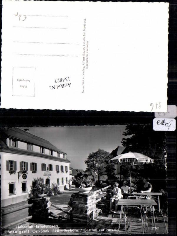 Wenigzell Gasthaus zur Taverne Gastgarten