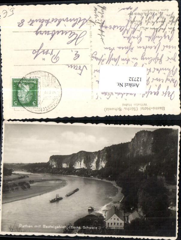 Rathen mit Basteigebiet Bastei Sächsische Schweiz