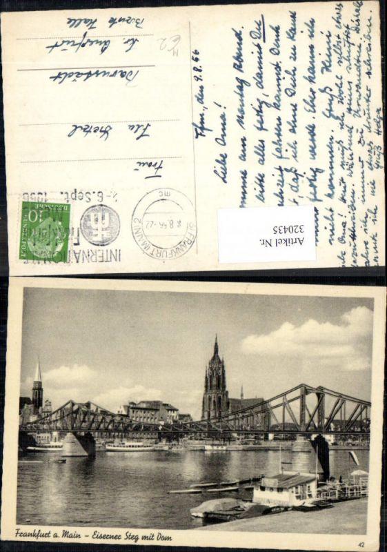 Frankfurt a. Main Eiserner Steg m. Dom Kirche Brücke
