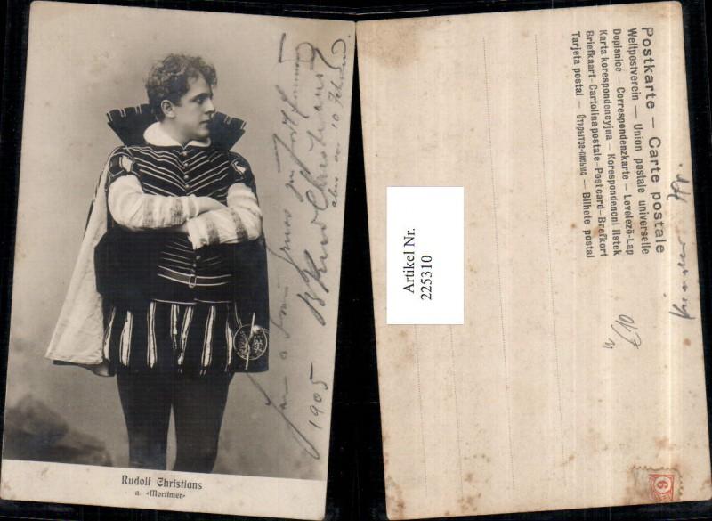 Schauspieler Rudolf Christians als Mortimer Kostüm