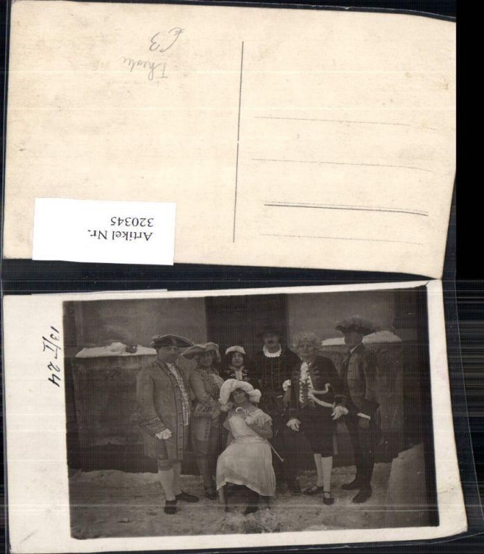 Foto Ak Theater Schauspieler Gruppenbild i. Schnee 1924