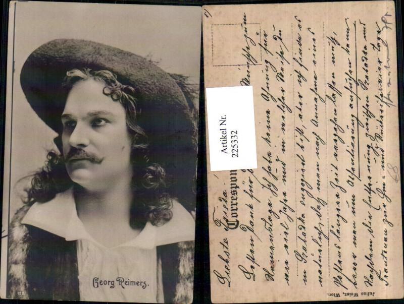 Schauspieler Georg Reimers Portrait m. Hut