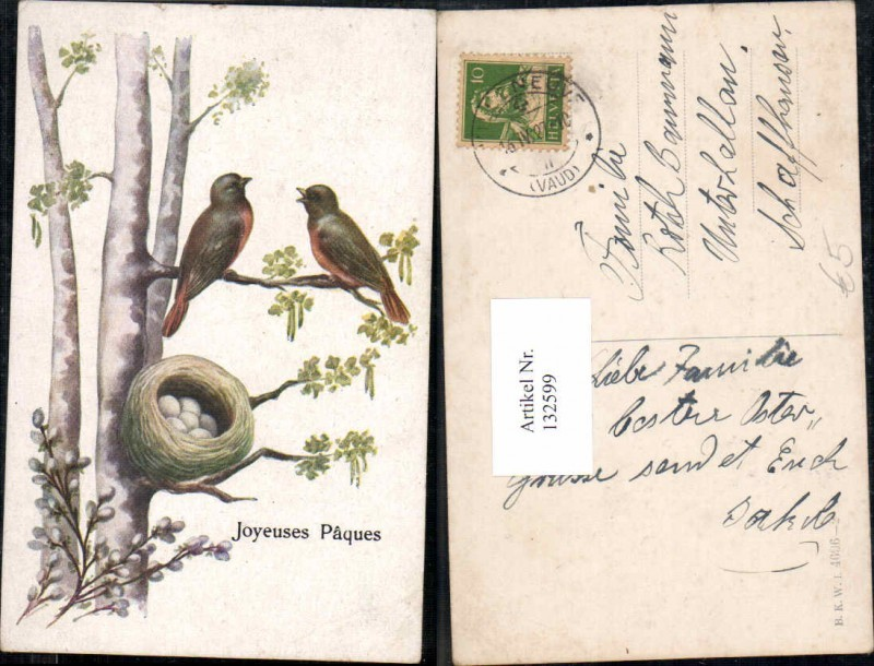 Ostern Vogel Vögel Nest Eier