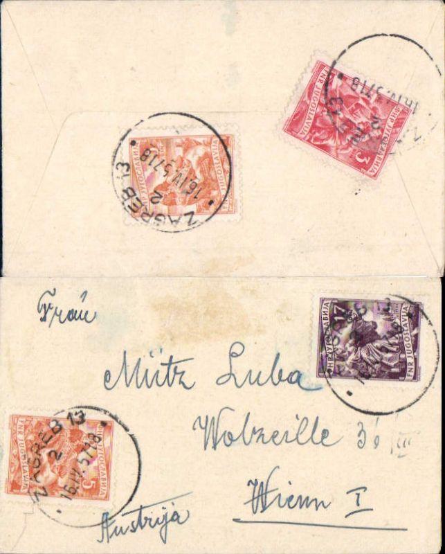 Brief Stp. Zagreb Bosnia n. Wien 1957