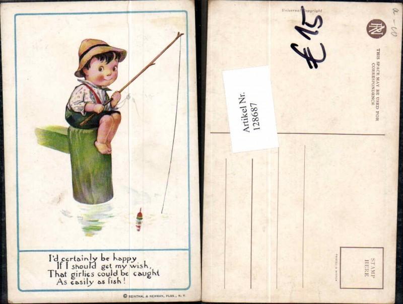 Reinthal & Newmann Süsser Junge beim angeln fischen Angel