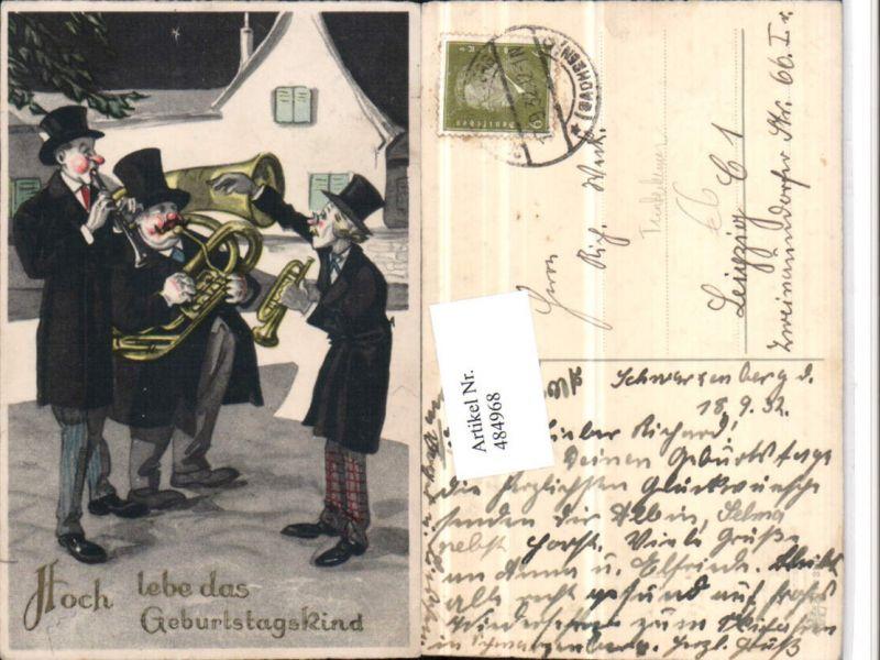 Künstler AK Trinkerhumor Betrunkene Musiker Horn Trompete