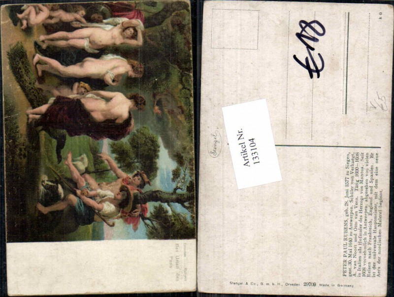 Stengel & Co 29709 Peter Paul Rubens Nude Erotik Akt