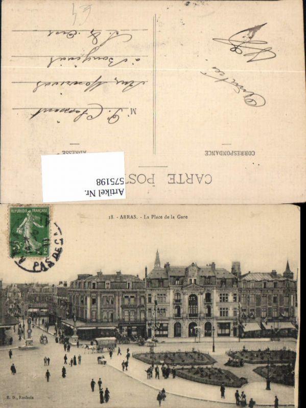France Arras La Place de la Gare Bahnhof