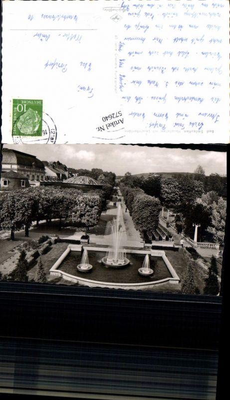 Foto Ak Bad Salzuflen Hauptallee m. Leuchtfontäne Brunnen