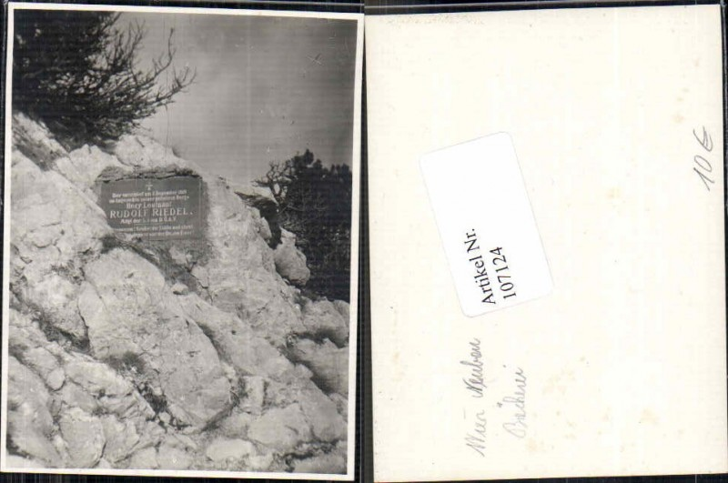 107124;Soldatengrab Grab Leutnant Rudolf Riedel aus Wien Neubau Bäckerei