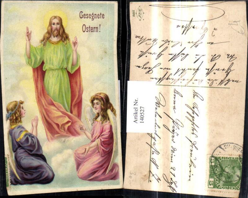 Künstler Ak Jesus m. Engel Ostern Religion