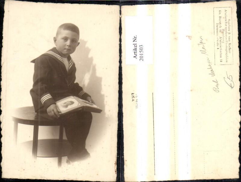 Kind Kinder Junge Bub Uniform Matrosenanzug Fotoalbum