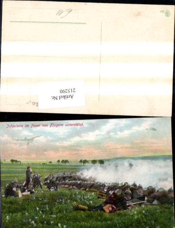 K.k. Soldaten Infanterie im Feuer v. Fliegern unterstützt Flugzeug Militä