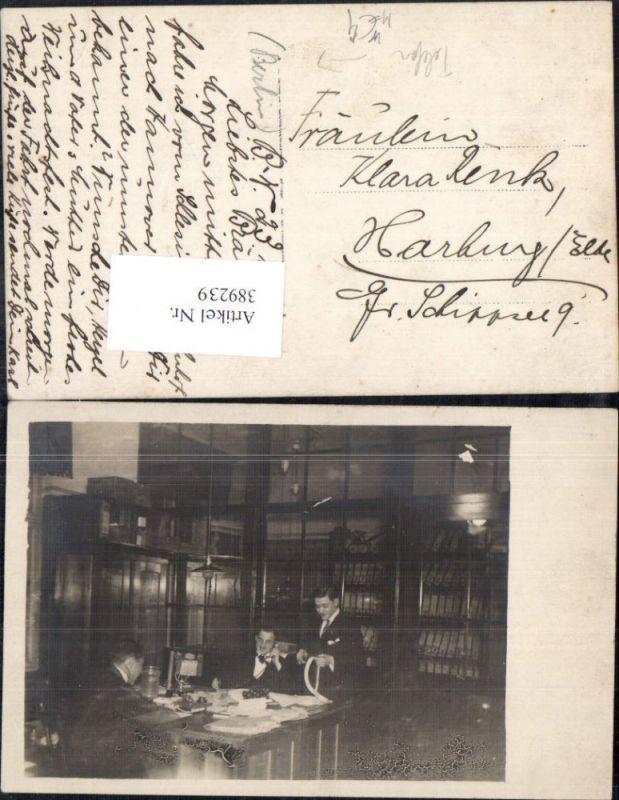 Foto Ak Technik Telefon Mann Schreibtisch Büro Berlin 1920