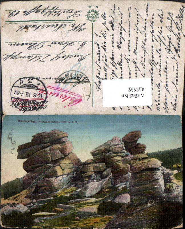 Poland Riesengebirge Pferdekopfsteine b. Szklarska Poreba Steine