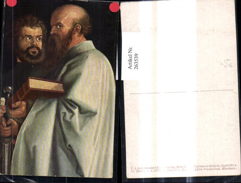 Künstler Ak Albrecht Dürer Paulus u. Markus pub F. A. Ackermann 201b/2024